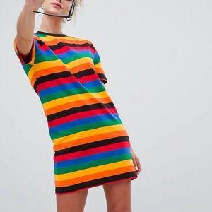 ASOS Daisy Street rainbow t shirt dress